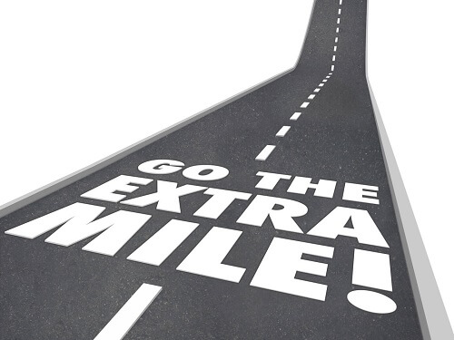 going the extra mile graphic for blog featured image