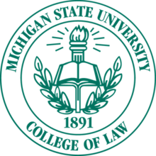 Michigan State University College of Law Logo
