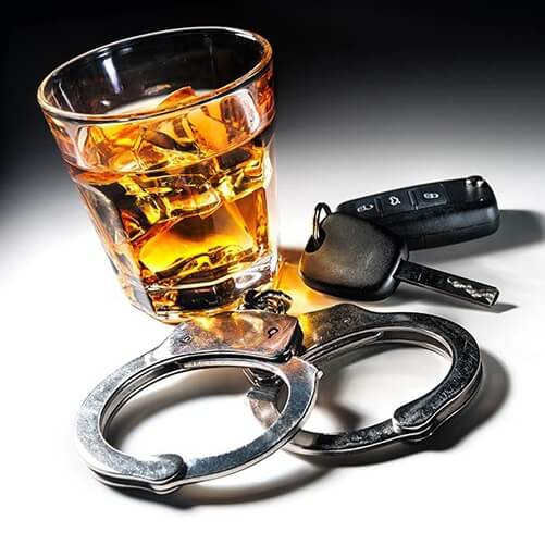 drink and car keys and hand cuffs DUI practice area support image